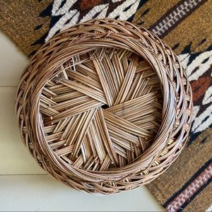 Large Vintage Woven Wall Basket